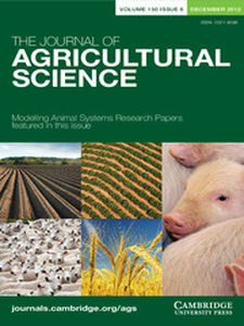 The Journal of Agricultural Science Volume 150 - Issue 6 -