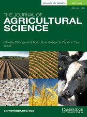 The Journal of Agricultural Science Volume 157 - Issue 5 -