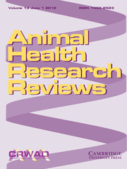 Animal Health Research Reviews Volume 13 - Issue 1 -