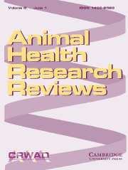 Animal Health Research Reviews Volume 8 - Issue 1 -