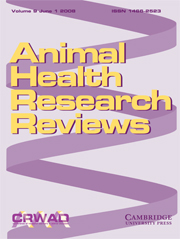 Animal Health Research Reviews Volume 9 - Issue 1 -