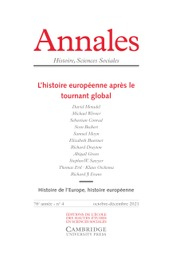 Annales. Histoire, Sciences Sociales (French edition)