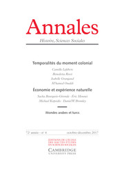 Annales. Histoire, Sciences Sociales Volume 72 - Issue 4 -