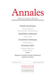 Annales. Histoire, Sciences Sociales Volume 74 - Issue 1 -