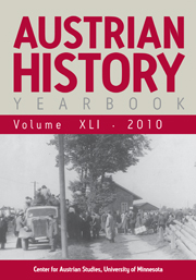 Austrian History Yearbook Volume 41 - Issue  -
