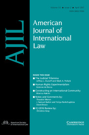 American Journal of International Law Volume 111 - Issue 2 -