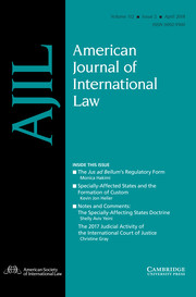 American Journal of International Law Volume 112 - Issue 2 -