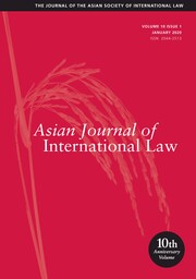 Asian Journal of International Law Volume 10 - Issue 1 -