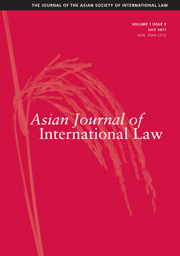 Asian Journal of International Law Volume 1 - Issue 2 -