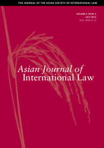 Asian Journal of International Law Volume 2 - Issue 2 -