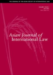 Asian Journal of International Law Volume 5 - Issue 2 -