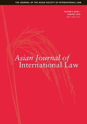 Asian Journal of International Law Volume 8 - Issue 1 -