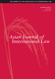 Asian Journal of International Law Volume 9 - Issue 2 -