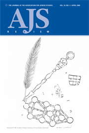 AJS Review Volume 33 - Issue 1 -