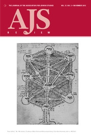 AJS Review Volume 37 - Issue 2 -