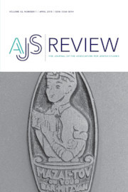 AJS Review Volume 42 - Issue 1 -