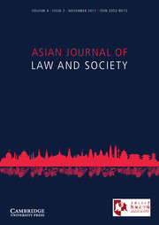 Asian Journal of Law and Society Volume 4 - Issue 2 -