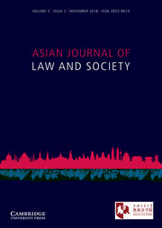 Asian Journal of Law and Society Volume 5 - Issue 2 -