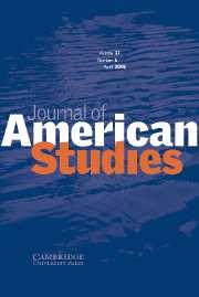 Journal of American Studies Volume 37 - Issue 1 -
