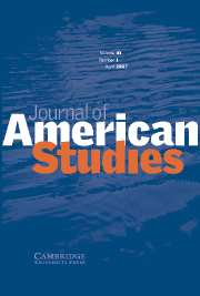 Journal of American Studies Volume 41 - Issue 1 -