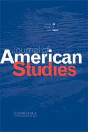 Journal of American Studies Volume 43 - Issue 1 -