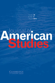 Journal of American Studies Volume 49 - Issue 3 -