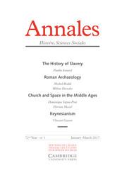 Annales. Histoire, Sciences Sociales - English Edition Volume 72 - Issue 1 -