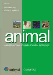 animal Volume 11 - Issue 9 -