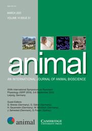 animal Volume 14 - Issue S1 -  XIIIth International Symposium on Ruminant Physiology (ISRP 2019), 3-6 September 2019, Leipzig, Germany