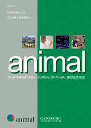 animal Volume 4 - Issue 2 -