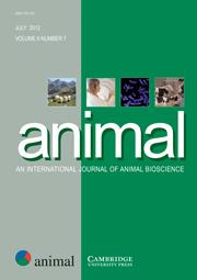 animal Volume 6 - Issue 7 -