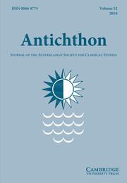 Antichthon Volume 52 - Issue  -