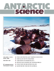 Antarctic Science Volume 21 - Issue 2 -