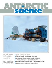 Antarctic Science Volume 22 - Issue 5 -