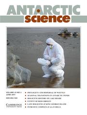 Antarctic Science Volume 23 - Issue 3 -