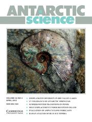 Antarctic Science Volume 24 - Issue 2 -