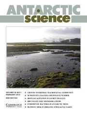 Antarctic Science Volume 25 - Issue 1 -
