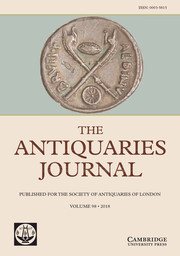 The Antiquaries Journal Volume 98 - Issue  -