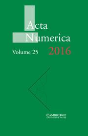 Acta Numerica Volume 25 - Issue  -
