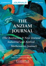 The ANZIAM Journal Volume 50 - Issue 2 -