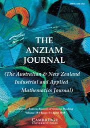 The ANZIAM Journal Volume 59 - Issue 4 -
