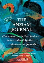 The ANZIAM Journal Volume 61 - Issue 2 -
