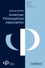Journal of the American Philosophical Association Volume 3 - Issue 3 -