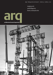 arq: Architectural Research Quarterly Volume 14 - Issue 4 -