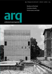arq: Architectural Research Quarterly Volume 18 - Issue 2 -