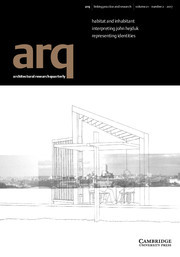 arq: Architectural Research Quarterly Volume 21 - Issue 2 -