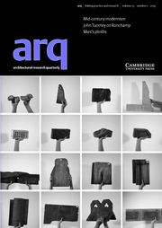 arq: Architectural Research Quarterly Volume 23 - Issue 1 -