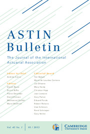 ASTIN Bulletin: The Journal of the IAA Volume 43 - Issue 1 -
