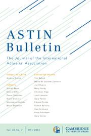 ASTIN Bulletin: The Journal of the IAA Volume 45 - Issue 3 -