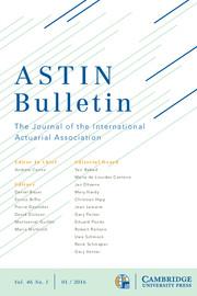 ASTIN Bulletin: The Journal of the IAA Volume 46 - Issue 1 -